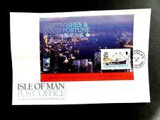I.O.M. 1st July 1997 Hong Kong M/Sheet FDC