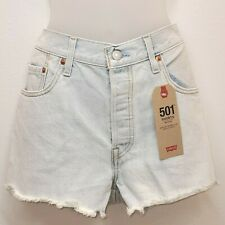Levis 501 Womens 31 Shorts Flower Fresh Denim Jean Shorts Button Fly Embroidered