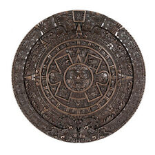 Large Bronze Aztec Mesoamerican Calendar Wall Plaque Aztlan Tenochtitlan Maya