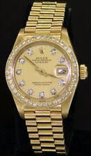 Rolex Datejust Presidential 6917 18K gold VS diamond dial/bezel ladies watch