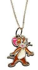 Tom & Jerry Cartoon Jerry Character Metal/Enamel Pendant with Chain