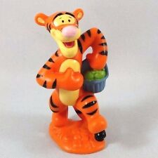 "TIGGER w BASKET Miniature Figurine Figure PVC TOY Cake Topper DISNEY POOH 3"""