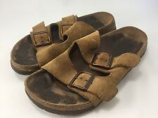 BIRKENSTOCK Betula Slide Sandal Mules Shoes 30 Tan Suede