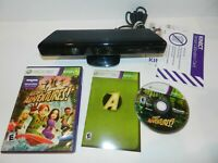 Black Kinect for Microsoft XBOX 360 with Kinect Adventures! Complete Setup Works