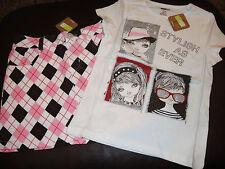 Crazy 8 Stylish As Ever Glam Girl sparkle top & argyle knit skort skirt NWT 5 6