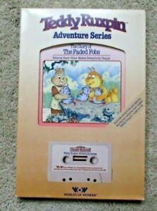 NIB Teddy Ruxpin Worlds of Wonder Adventure Series Book & Tape Story Faded Fobs