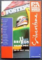 BRITISH GRAND PRIX SILVERSTONE 1992 FORMULA ONE F1 Official Race Programme