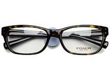 COACH 6082 5244 New Authentic Eyeglasses Frame 53-17-135 Dark Tortoise Black