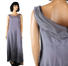 Long Prom Dress Sz M Sleeveless Mauve Grayish Purple Shiny Evening Gown