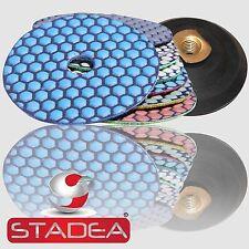 "Diamond Polishing Pads 4"" Dry Premium Set+Buff+ Backer"