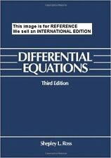 Differential Equations by Shepley L. Ross (Paperback, 1984)(Int' Ed Paperback)3E