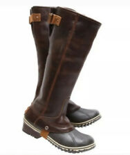 NEW! SOREL Slimpack Riding Tall Boot Women's 5 Nutmeg Waterproof Leather Rubber