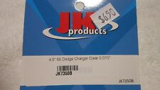 JK PRODUCTS 4.5 69 DODGE CHARGER CLEAR 0.010 CLEAR LEXAN BODY STOCK CAR