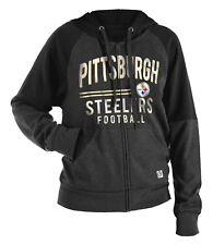 "Pittsburgh Steelers Women's New Era NFL ""TD Play"" Tri-Blend Hooded Sweatshirt"