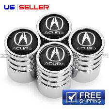 VALVE STEM CAPS + WHEEL TIRE CHROME FOR ACURA VE29 - US SELLER