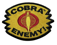 G.I. Joe Cobra Enemy Embroidered Iron On Patch - Snake Cartoon 127-Y