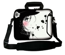 """LUXBURG 14"""" Inches Design Laptop Sleeve With Shoulder Strap & handle #BV"""