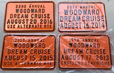 Woodward Dream Cruise Orange Garage Signs 2016, 2015, 2014, 2013