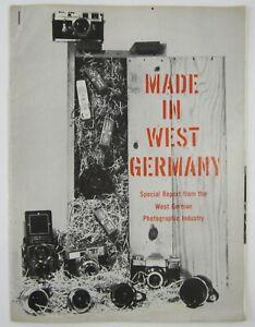 Vtg West German Leica Rolleiflex Camera Catalog Industry Trade Booklet c 1958