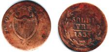 496 # Svizzera -Ticino, Tre Soldi  cu 1838 - MB