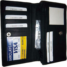 New large leather checkbook wallet compact wallet zip wallet BNWT