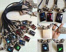 12pcs Galaxy Constellation Design Pendant Leather Necklace Birthday Gift Unisex