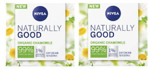 2 x Nivea Naturally Good Organic Chamomile Day Cream Sensitive (2 x 50ml)