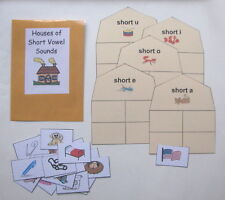 Teacher Made Literacy Center Phonics Resource Game Short Vowel Sort