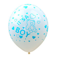 "12"" White Latex Balloons - It's a Boy - Baby Shower Balloons - Pack of 10"