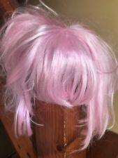 Pink Wig Short Bob Fancy Dress Cosplay Costume Light Pink Fringe