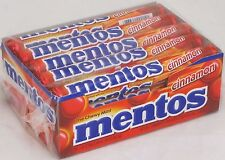 Mentos Cinnamon Flavored Chewy Candy Box of 15 Ct Rolls Candy Bulk Candies Mento