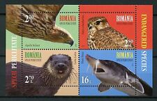 Romania 2017 MNH Endanged Species Otters 4v M/S Birds Fish Wild Animals Stamps