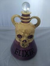 Halloween Skull Elixir Purple Potion Bottle Magic Gothic Homeware