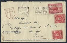 AUSTRALIA 1934 US SYDNEY AIR MAIL POSTAGE DUE NSWT 16 2/3 MARKING & DUE 4¢ NEW Y