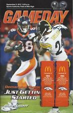 2012 NFL STEELERS @ BRONCOS FOOTBALL PROGRAM -PEYTON MANNING FIRST GAME 400TH TD