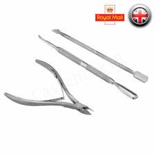 Nail Art Cuticle Spoon Pusher Clipper Nipper Manicure Toe Scissors Chiropody Set