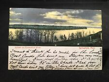Antique POSTCARD c1907 Springfield, MA., Sunset On Connecticut River