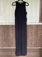 NWT Forever 21 jumpsuit slit leg very sexy sleeveless size M black full length