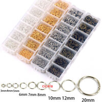 Wholesale Bronze Gold & SILVER PLATED Metal JUMP RINGS 4,5,6 ,8,10,12,14,20mm
