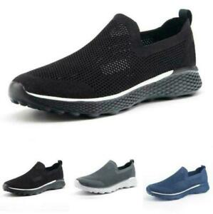 Men's Mesh Breathable Soft Sports Outdoor Casual Slip On Sneakers Shoes Running
