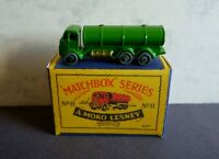 Matchbox Lesney No11a ERF Road Petrol Tanker Restored to the very Rare Green