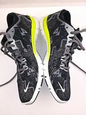 b83686af1fcd Nike Free 5.0 TR FIT 4 Print Womens Size 7 Athletic Shoe Black White Yellow