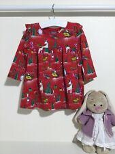 Schönes Kleid Tunika Baumwolle Baby Mädchen Rot Englandmode Gr 68//74 6-9 M