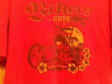 MALIBU CANYON Bikers Cove men's motorcycle t shirt red XL