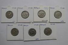 BELGIUM 50 FRANCS - 7 DIFFERENT COINS LOT COLLECTION A99 H3