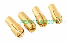 4 Set in ottone collets Adattatore Pinza Mandrino (0.8/1.6/2.4/3.2 mm) ROTATIVO DREMEL