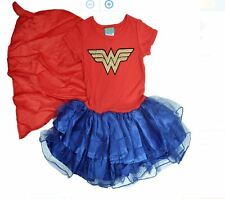 Wonder Woman Girls Cape Tutu Costume Dress Play wear XL (14/16)