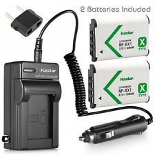 Kastar NP-BX1 Battery + Charger For Sony Cyber-Shot DSC-RX100 HDR-AS100V AS200V