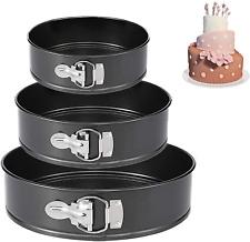 """Springform Pan (4""""/7""""/9"""") Set,Non-stick Leakproof Round Cake Pan Bakeware Baking"""