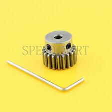 1M-20T 7mm Bore Hole 20 Teeth 20T Module 1 Motor Metal Gear Wheel Top Screw